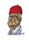 Cartoon: Chinua Achebe (small) by Nayer tagged chinua,achebe,nigerian,nigeria,africa,african,poet,professor,writer