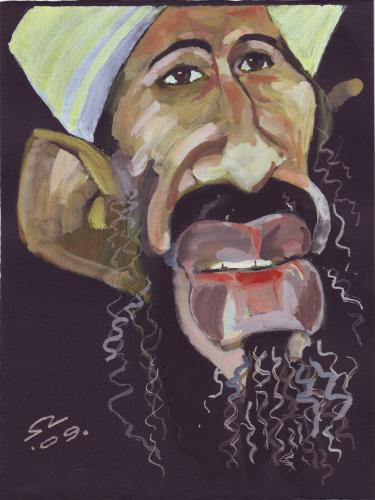 Cartoon: Osama bin Laden (medium) by zed tagged osama,bin,laden,afghanistan,terrorism,al,qaeda