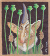 Cartoon: Hamid Karzai (small) by zed tagged hamid,karzai,afghanistan,president,politician,portrait,caricature