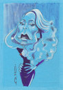 Cartoon: Jerry Hall (small) by zed tagged jerry hall usa actress model rock and roll portrait caricature