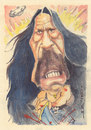 Cartoon: Machete (small) by zed tagged danny,trejo,usa,actor,movie,hollywood,film,portrait,caricature