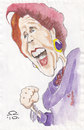 Cartoon: Margaret  Thatcher (small) by zed tagged iron,lady,margaret,thatcher,portrait,caricature,london,uk,commonwealth,imperializm