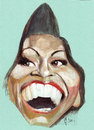 Cartoon: michelle obama (small) by zed tagged michelle obama usa first ladi white house portrait caricature