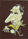 Cartoon: zlatan ibrahimovic (small) by zed tagged zlatan,ibrahimovic,malmo,sweden,footballer,striker,portrait,caricature
