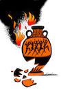 Cartoon: Difficult - sad news (small) by firuzkutal tagged fire,forest,forestfire,tragedy,greece,athen,hellas,sorrow,rip,tzipras