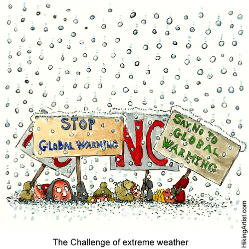 Cartoon: The weather  getting complicated (medium) by Frits Ahlefeldt tagged activists,green,environment,warming,global,weather,extreme,snow