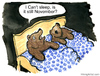 Cartoon: Waiting for Spring (small) by Frits Ahlefeldt tagged bear,animal,hibernation,insomnia,sleep,bed,sheets,couple,doublebed,cartoon,comic,handdrawn