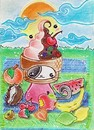 Cartoon: Kitty or Icecream (small) by Metalbride tagged katze