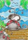 Cartoon: Kitty or Ladybug (small) by Metalbride tagged katze