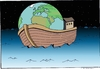 Cartoon: save the world (small) by kader altunova tagged noah,schiff,meer,ozean,sterne,himmel,erde,welt
