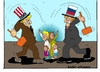 Cartoon: Ukraine-Krise (small) by kader altunova tagged ukraine,krise,usa,rusland
