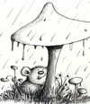 Cartoon: Bär Im Regen (small) by Jupp tagged bär regen pilz jupp bomm