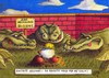 Cartoon: Maulwurf Zoo (small) by Jupp tagged maulwurf,krokodil,krokodile,zoo,helgoland,cola,pommes,jupp,bomm,crocodile,zu,spät,no,return,game,over,illustration,cartoon,witz,idee,pech,garten,gang,hügel,wiese,fun,graben,bau,haufen,bekämpfen,tot,ende,schädling