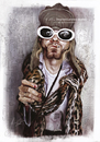Cartoon: Kurt Cobain 2 (small) by slwalkes tagged stephenlorenzowalkes,kurtcobain,digitalpainting,nirvana,nevermind