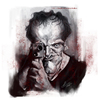 Cartoon: Quentin Tarantino (small) by slwalkes tagged director,caricature,django,stephenlorenzowalkes