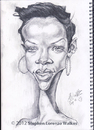 Cartoon: Rihanna pencil sketch (small) by slwalkes tagged pencil,singer,rihanna,celebrity,caricature,stephenlorenzowalkes