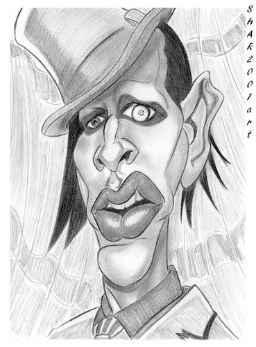 Cartoon: Marilyn Manson (medium) by shar2001 tagged caricature,marylin,manson