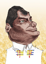 Cartoon: Rafael Correa (small) by Mattia Massolini tagged rafael,correa,caricature,assange,mattia,massolini