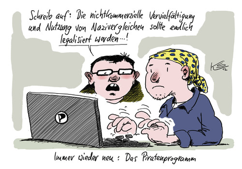 Cartoon: Piraten (medium) by Stuttmann tagged piratenpartei