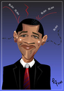 Cartoon: The Obama Balancing Act (small) by remyfrancis tagged barack,obama,usa,president,political,personality