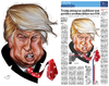Cartoon: Donald Trump (small) by Toni DAgostinho tagged donald,trump,toni,dagostinho,brazil,brasil,folha,press