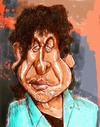 Cartoon: Boby Dylan (small) by horate tagged music