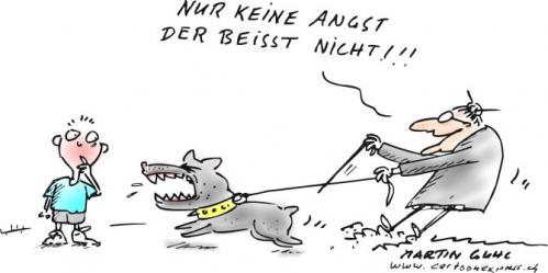 Cartoon: bullterrier kampfhund agression (medium) by martin guhl tagged bullterrier,kampfhund,agression