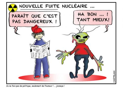 Cartoon: FUITE NUCLEAIRE (medium) by chatelain tagged humour,fuite
