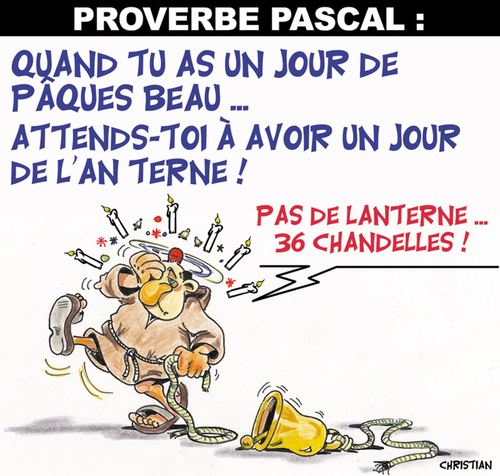 Cartoon: PROVERBE PASCAL ... (medium) by CHRISTIAN tagged paques