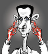 Cartoon: BACAHAR fait la sourde oreille (small) by CHRISTIAN tagged bacahar,el,assad,syrie,massacre,otan,onu