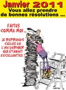 Cartoon: BONNES RESOLUTIONS ... (small) by CHRISTIAN tagged nouvel,an