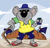 Cartoon: Proud Aussie (small) by tooned tagged cartoons,caricature,comics