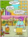 Cartoon: Market Shopping (small) by gultekinsavk tagged market,shopping,be,young,mother,child,relationship,eat