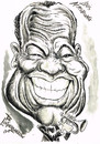 Cartoon: SATCHMO- LOUIS ARMSTRONG (small) by Tim Leatherbarrow tagged satchmo,louis,armstrong,jazz,trumpet