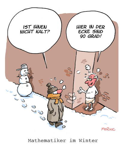 Mathematiker im Winter