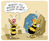 Cartoon: Blaue Blume (small) by FEICKE tagged biene,blume,bar,alkohol,beziehung,betrunken,ehe