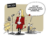 Cartoon: Glorious!!! (small) by FEICKE tagged eurovision,sons,contest,esc,cascada,merkel,platz,21,2013,glorious,abstimmung,ergebnis,outfit,eurokrise