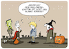 Cartoon: Johnson Halloween (small) by FEICKE tagged halloween,brexit,johnson,horror,europa,eu
