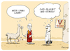 Cartoon: Lama (small) by FEICKE tagged religion,dalai,lama,wortspiel,tibet,buddhismus