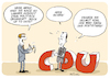 Cartoon: Merz up to date (small) by FEICKE tagged cdu,union,kanzler,kandidat,merz,spahn,laschet,partei,vorsitz,kohl