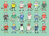 Cartoon: Bundesliga (small) by belozerov tagged cat,football,fussball,katze,bundesliga,bayern,borussia,leipzig,bayer,wolfsburg,eintracht,werder,hoffenheim,fortuna,hertha,mainz,freiburg,schalke,augsburg,koeln,paderborb,union,ball,meisterschaft