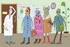 Cartoon: Coronavirus (small) by Sergei Belozerov tagged coronavirus,virus,doctor,medicine,mask,health