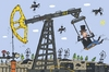 Cartoon: The Swing (small) by belozerov tagged swing,oil,derrick,petroleum,schaukel