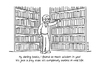 Cartoon: Darling Books (small) by Vhrsti tagged book,library,bookcase,reader,life