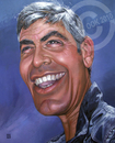 Cartoon: George Clooney (small) by Russ Cook tagged george,clooney,celebrity,acrylic,karikatur,karikaturen,zeichnung,painting,actor,caricature,star,hollywood,famous,america,american,russ,cook