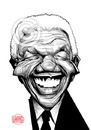 Cartoon: Nelson Mandela (small) by Russ Cook tagged nelson,mandela,russ,cook,anc,south,africa,caricature,digital,drawing,apartheid