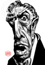 Cartoon: Vincent Price sketch (small) by Russ Cook tagged vincent,price,painting,caricature,russ,cook,acrylic,paint,horror,macabre,monster,mash,michael,jackson,thriller,film,house,of,usher,wax,edward,scissorhands,theatre,blood