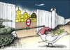 Cartoon: Christmas at Jerosalem (small) by samir alramahi tagged peace palestine israel ramah cartooni arab politics christmas holy land