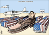 Cartoon: Goodbye (small) by samir alramahi tagged shose politics war iraq bush usa ramahi