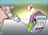 Cartoon: h1n1  in Jordan (small) by samir alramahi tagged h1n1,jordan,arab,ramahi